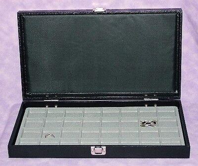 Traveling Earringjewelry 32 Slot Jewelry Case Gray