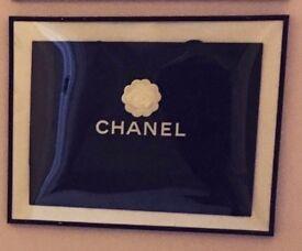 Black framed Chanel bag