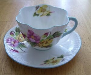 "SHELLEY Cup and Saucer ""Begonia"""