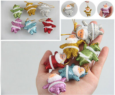 Lot 6 pcs Christmas Santa Claus Ornaments Christmas Tree Hanging Mini Decoration](Hanging Ornaments)