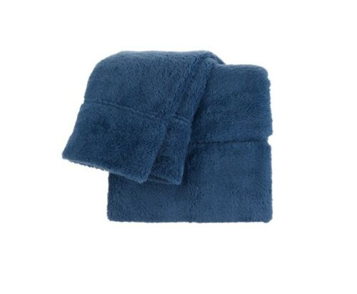 Berkshire Blanket Fluffie Sheet Set-Blue-King--NIP