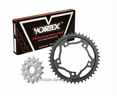 KAWASAKI 2013-2017 NINJA 650 VORTEX 520 BLACK CHAIN & SPROCKET KIT 14-48 -1+2