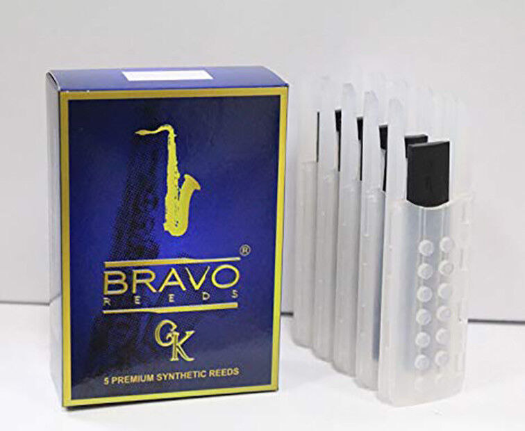 Bravo Synthetic Reeds for Tenor Saxophone - Box of 5 - Strength 2.5