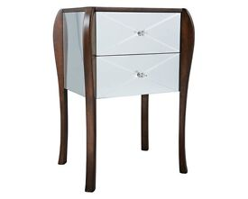 Mirrored bed side table from Laura Ashley