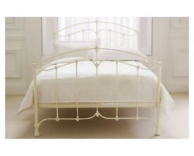 Laura Ashley king size bed frame, cream