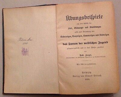 """Buch """"Übungsbeispiele - das Turnen der weiblichen Jugend"""" von 1889"""