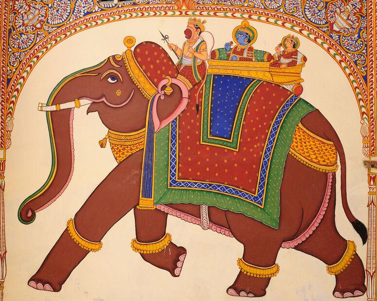 Einrichtungstipps: Indisch inspirierte Wandmalerei