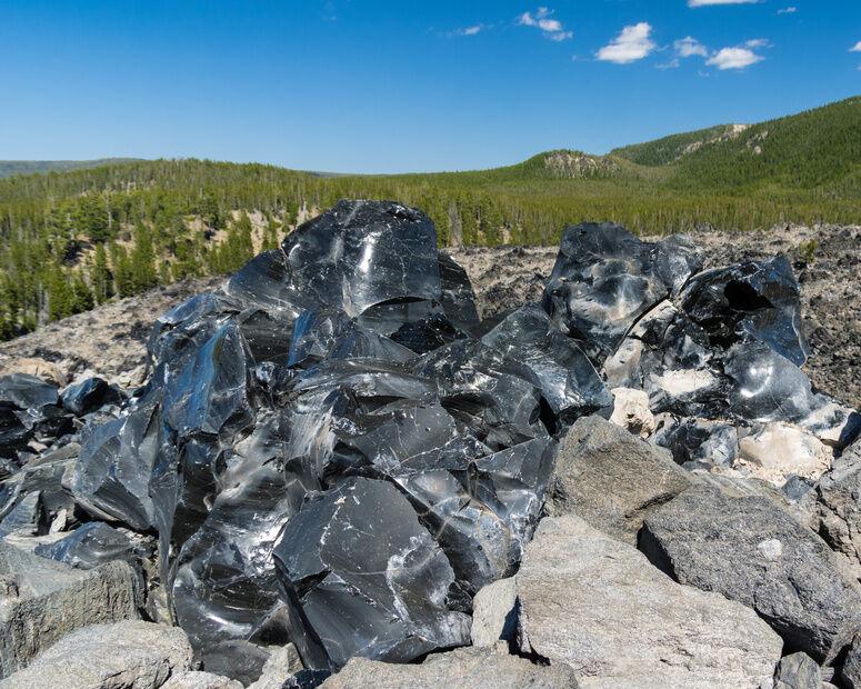 Obsidian: Glas aus dem Vulkan
