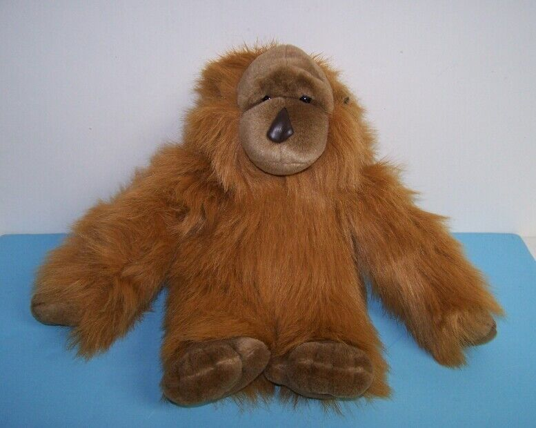 "Big Carlton Cards 16"" Brown Shaggy Plush Monkey Orangutan Stuffed Animal"