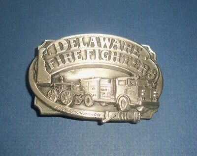 DELAWARE FIREFIGHTERS 1985 Commemorative Belt Buckle-Siskiyou Co. - #473/2500