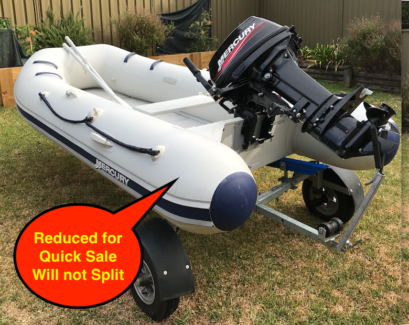 Mercury 320 Sport Inflatable, 15hp and Folding Trailer