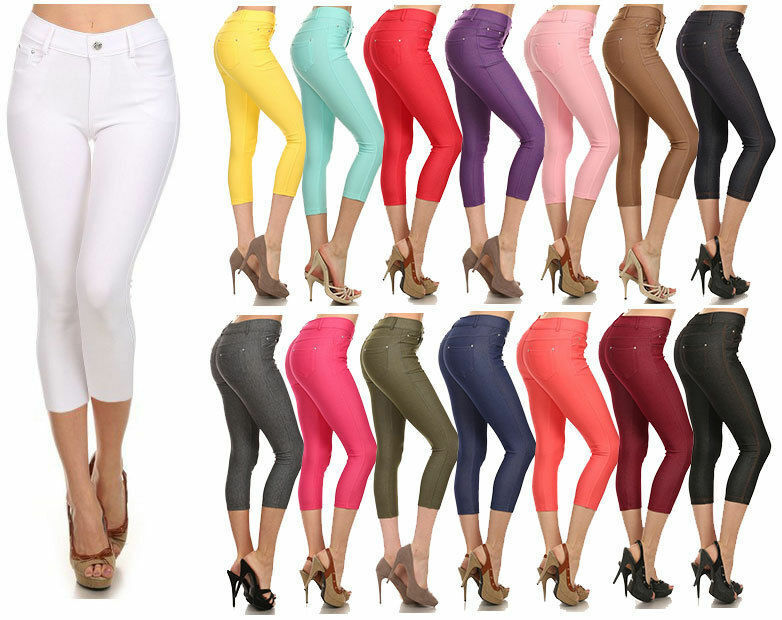 Full Length Turquoise Premium Cotton Leggings Comfortable /& Stretchy Sizes 8-22