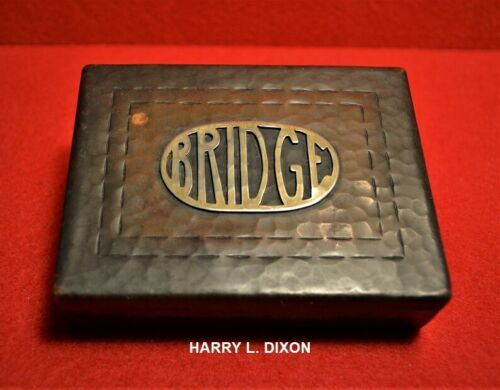 ❤️HARRY L. DIXON HAMMERED COPPER BRIDGE CARD BOX❤️