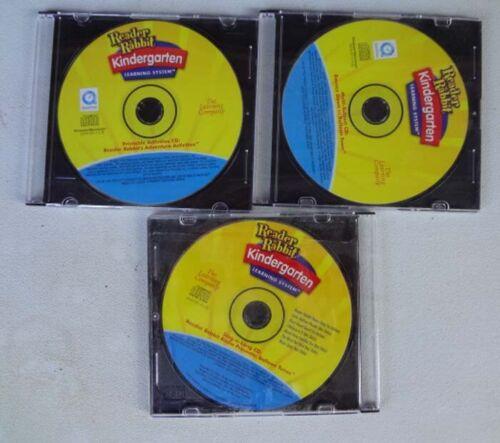 Reader Rabbit Kindergarten 3 CD-ROMs Bounce Down, Sing-a-Long, Printable