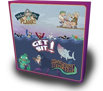 3 in 1 Bundle: Walk The Plank! & Get Bit! & Hold Your Breath! [Board Game] NEW