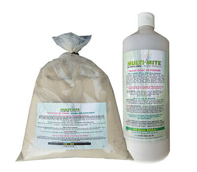 MULTI MITE® 400G Shaker & 1KG Refil DE Diatomaceous Earth Red Mite Worming Fleas