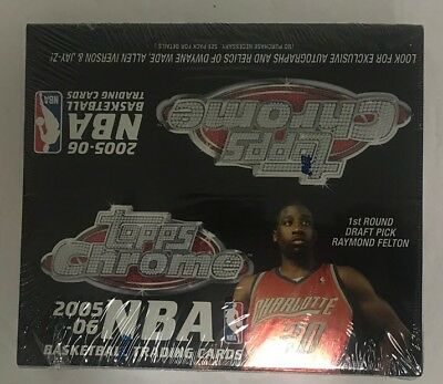 2005-06 Topps Chrome Basketball Factory Sealed 24 Pack Box (Basketball 24 Pack Box)
