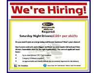 **Bus driver wanted for Saturday Night work** Belfast/Ballymena/Derry/Antrim/Cookstown/Coleraine