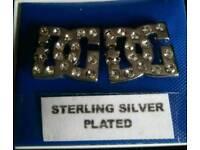 Sterling silver plated D&G stud earrings