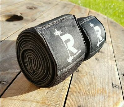 Black Knee Wraps Weight Lifting Bandage Straps Guard Sleeves Powerlifting Gym