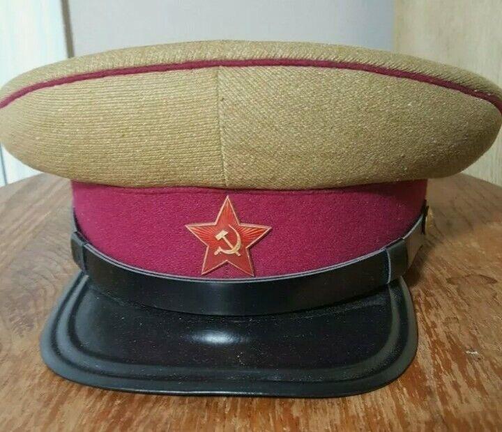 Soviet USSR M35 Officer Infantry Rifles Summer Peaked Cap Hat