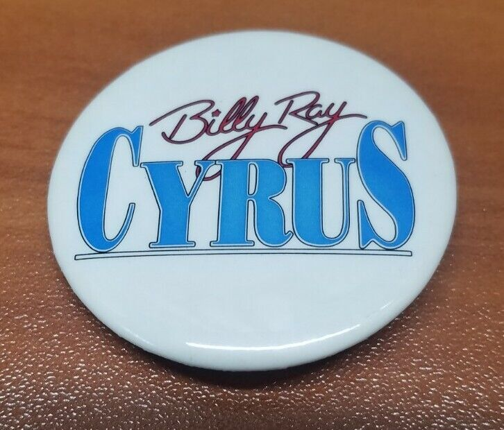 """Billy Ray Cyrus Button Pin Vintage 1.5"""""""