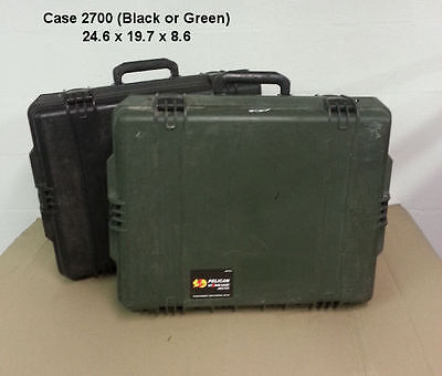 Pelican/Storm Case  #2700 - Black ONLY - 24.6x19.7x8.6