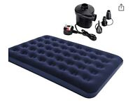 Inflatable mattress with pump