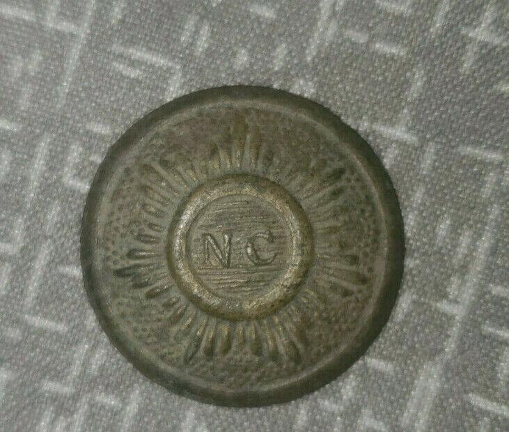 Civil War NC Starburst Button