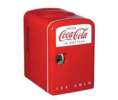 Small Mini Fridge Beverage Retro Cooler Lightweight Quiet Electric Locking 6 Can