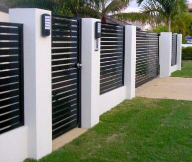 fencing slats louvres pool glass privacy,security