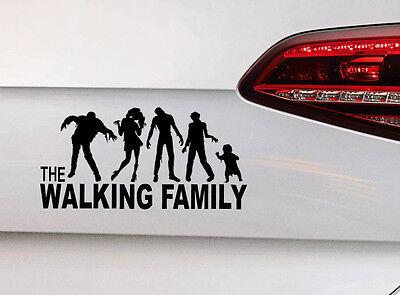 Familie on Board Aufkleber The Walking Dead Zombie Fun Sticker Kids Baby Decal