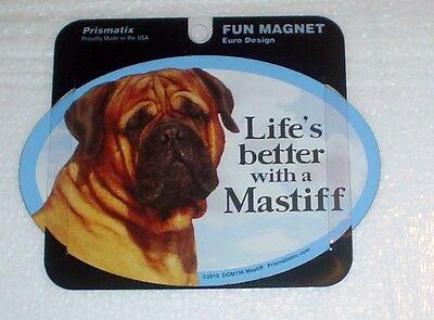 Mastiff LIFES BETTER Fridge Magnet