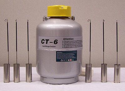 Ct-6 Ctcryogenics Liquid Nitrogen Ln2 Semen Tank