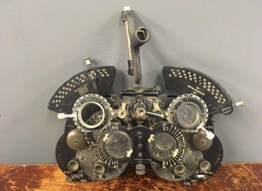 Antique phoropter By Ellis Optical Opticians instrument