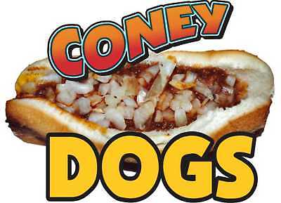 Coney Island Hot Dogs Cart Food Concession Decal 12