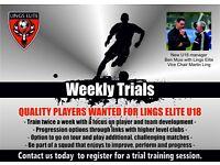 U18 Football Team Trials - Lings Elite - Harlow - Premier Division