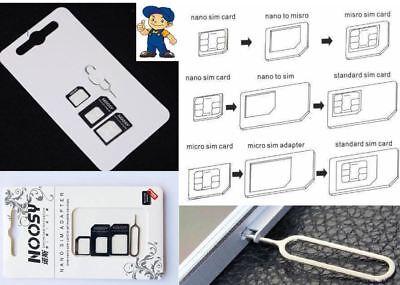 NOOSY Nano Sim Karten Adapter Micro Nadel UNIVERSAL HANDY KOMPATIBEL GEEIGNET Z7