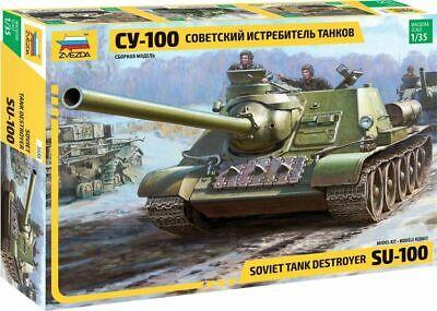 3688 Zvezda model kit soviet tank destroyer SU-100 scale 1/35