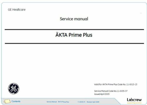AKTA  Service Manuals   G.E. Healthcare
