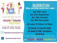 23rd Sept - Surbiton mum2mum market Nearly New Sale