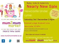 MUM2MUM MARKET NEWCASTLE UNDER LYME BABY SALE