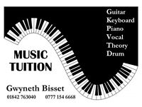 MUSIC TUITION - Piano-Guitar-Drum-Vocal-Theory-Keyboard