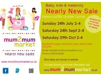 Mum2Mum Market NEWCASTLE UNDER LYME nearly new baby and childrens sale