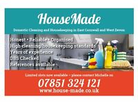 House Made: High quality housekeeping, cleaning and maintenance in East Cornwall and West Devon
