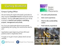 Campus Cycling Officer - University of West of Scotland