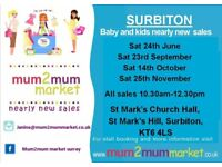25th Nov - Surbiton mum2mum market Nearly New Sale