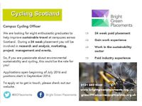 Campus Cycling Officer - University of Aberdeen
