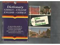 USED LANGUAGE BOOKS - GERMAN AND FRENCH