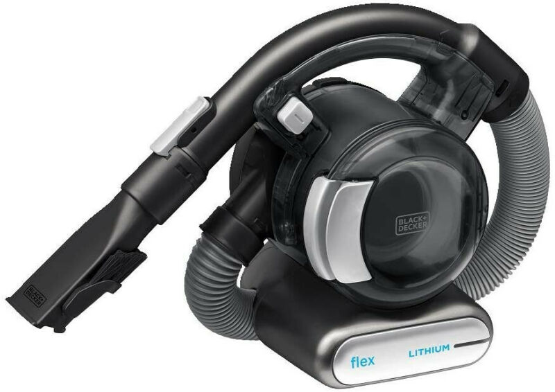 Black+Decker 20V Max Flex Handheld Vacuum With Pet Hair Brush, Cordless, Grey